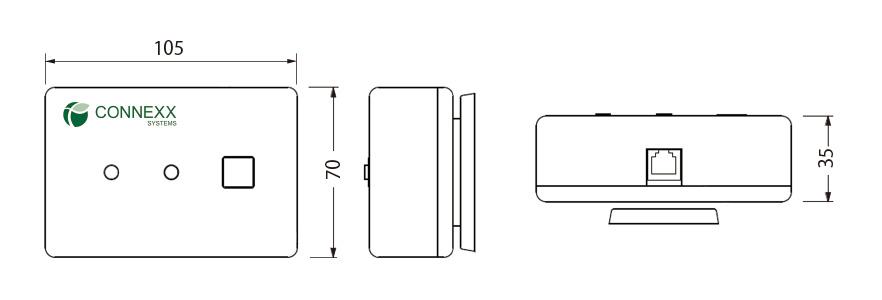 CT4 宅内表示器 外形寸法図