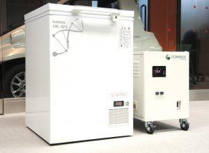 超低温フリーザーなどの電源バックアップとして